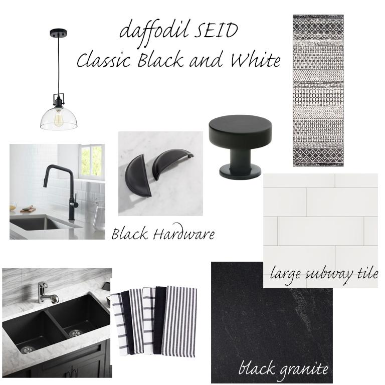 daffodilseid - white and black kitchen