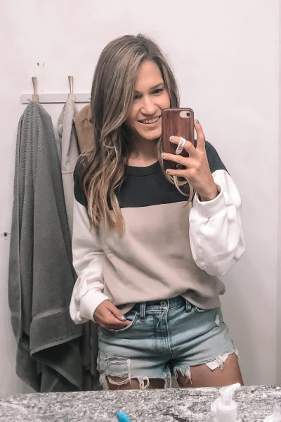 color block sweatshirt abercrombie