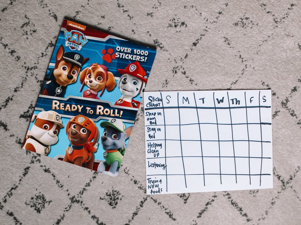 sticker chart and stickers
