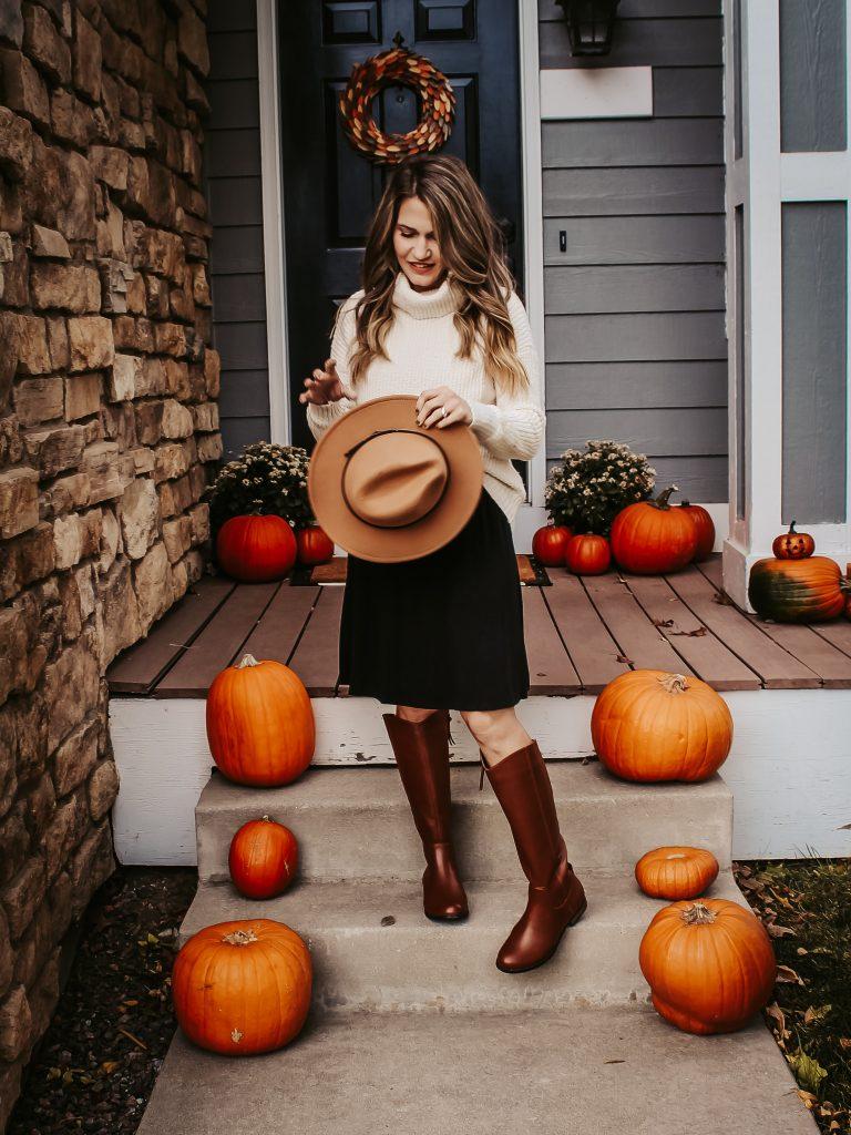 sweater - dress - hat