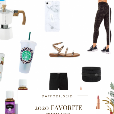 My Favorite and Most Used Things of 2020