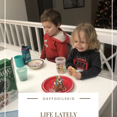 Life Lately – Coloring, Christmas Cookies, and Gingerbread Houses