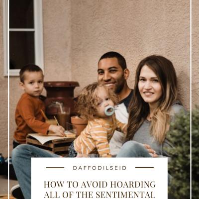 How to Avoid Hoarding All of the Sentimental Kids' Items