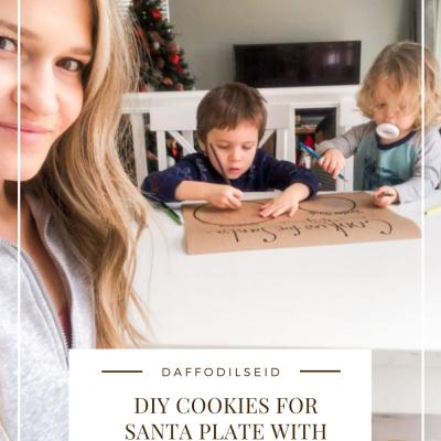 DIY Cookies For Santa Plate With Kraft Paper