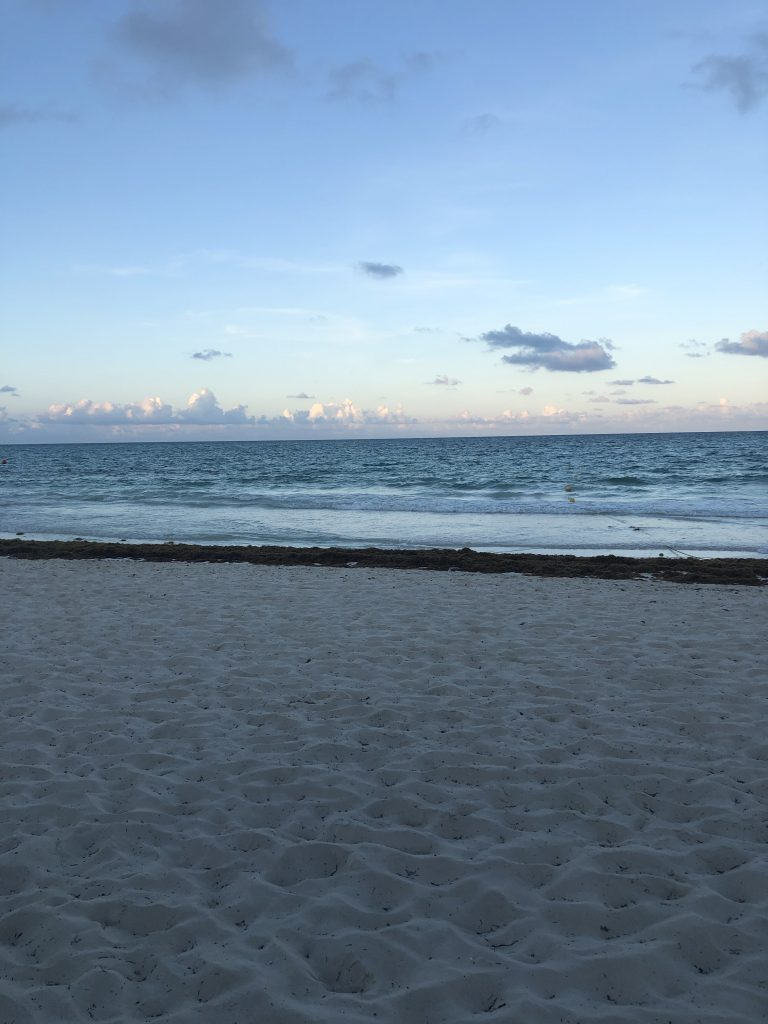 Secrets Maroma beach at sunset