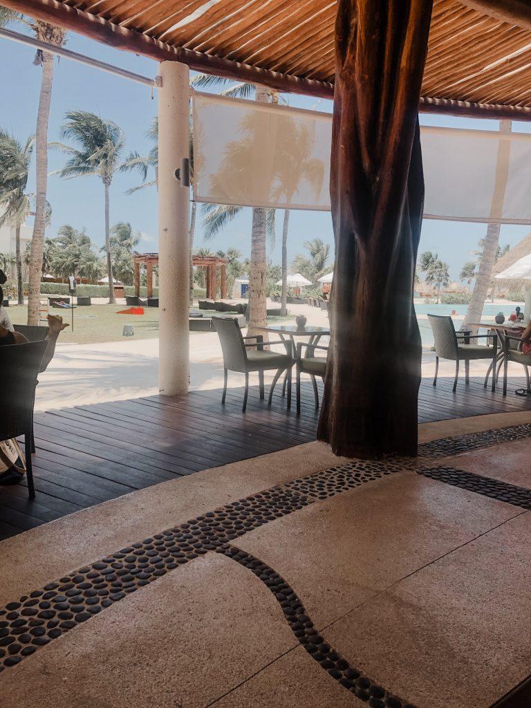 Oceana restaurant  - tiny beach view