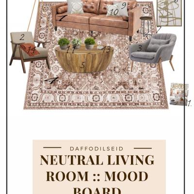 Neutral Living Room :: A Mood Board
