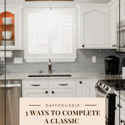 3 Ways to Complete a Classic White Kitchen